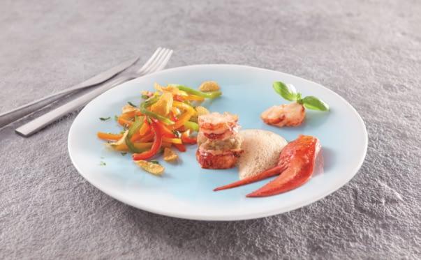 Médaillon de homard et caviar d'aubergines